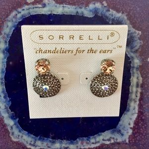 NWOT SORRELLI Drop Earrings Apricot